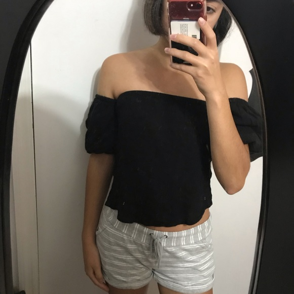 Urban Outfitters Tops - Kimchi Blue Off Shoulder Balloon Sleeves Crop Top